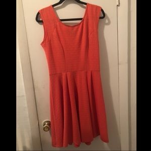 Bobeau fit and flare coral dress size small